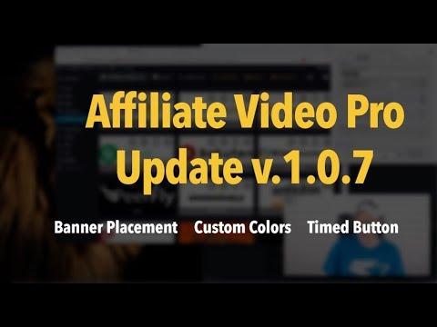 Affiliate Video Pro Update: PromoBanner Placement, Custom Colors, Timed Show Button (prem), v1.0.7. http://bit.ly/2MFWKKZ