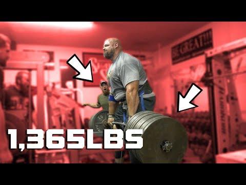 1,365LB BELT SQUAT RACK PULL  | BRIAN ALSRUHE | BRIAN SHAW