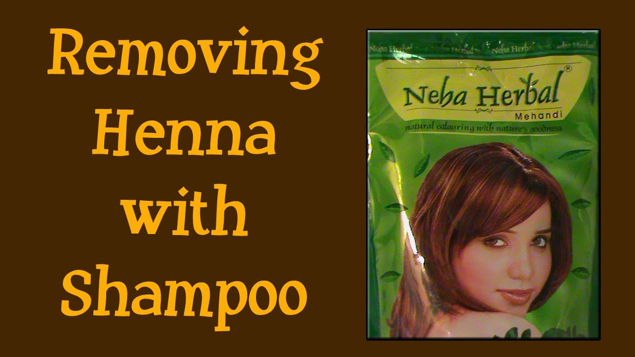 53 Removing Henna With Shampoo Youtube