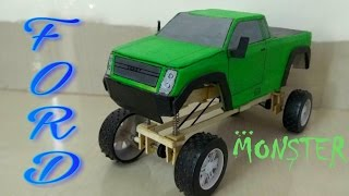 WOW ! Amazing FORD TRUCK (with suspension)||  MONSTER TRUCK ||How To Make A Truck