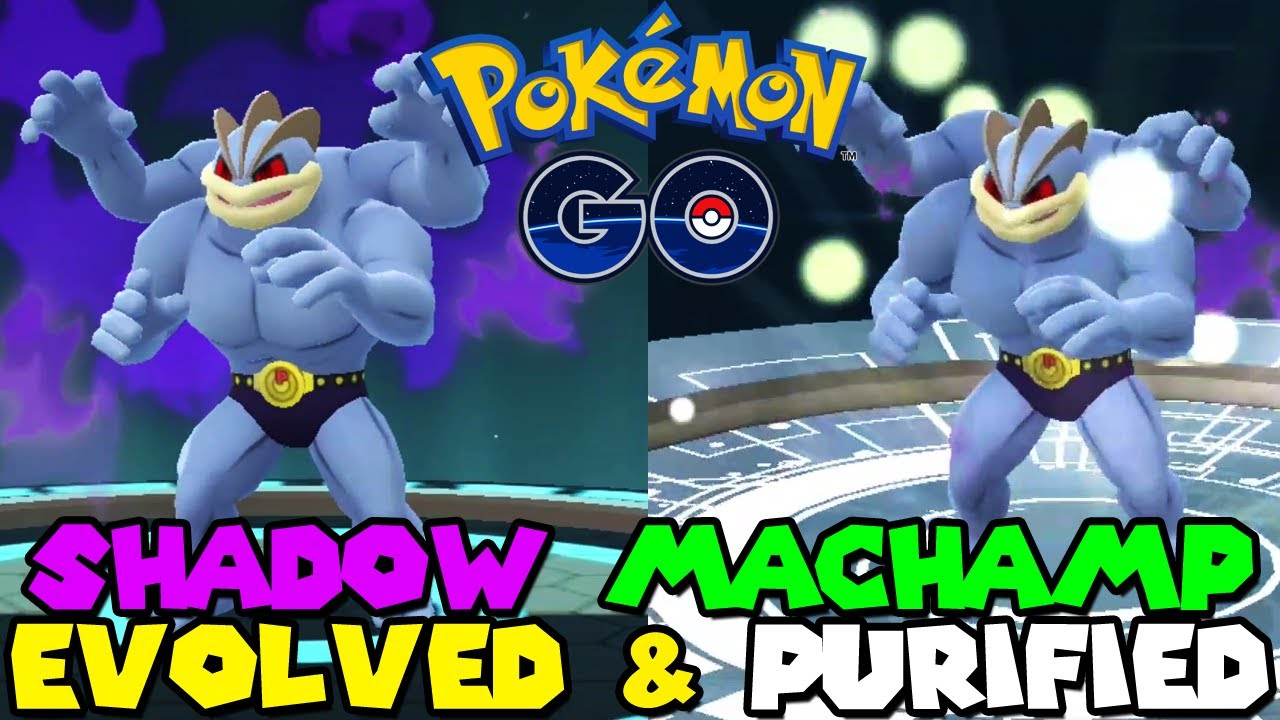 SHADOW MACHAMP EVOLUTION & PURIFIED in Pokemon GO