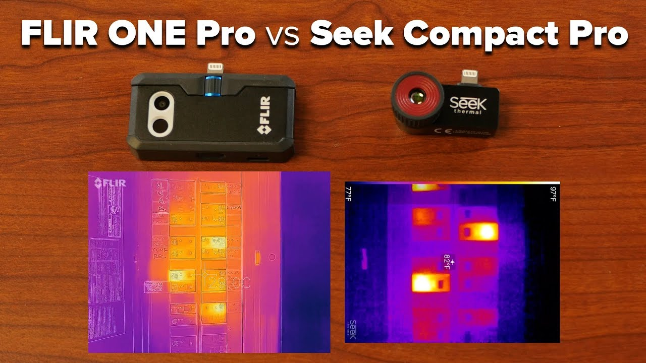 764efa8d92 FLIR ONE Pro vs Seek Compact Pro Smartphone Thermal Camera Comparison