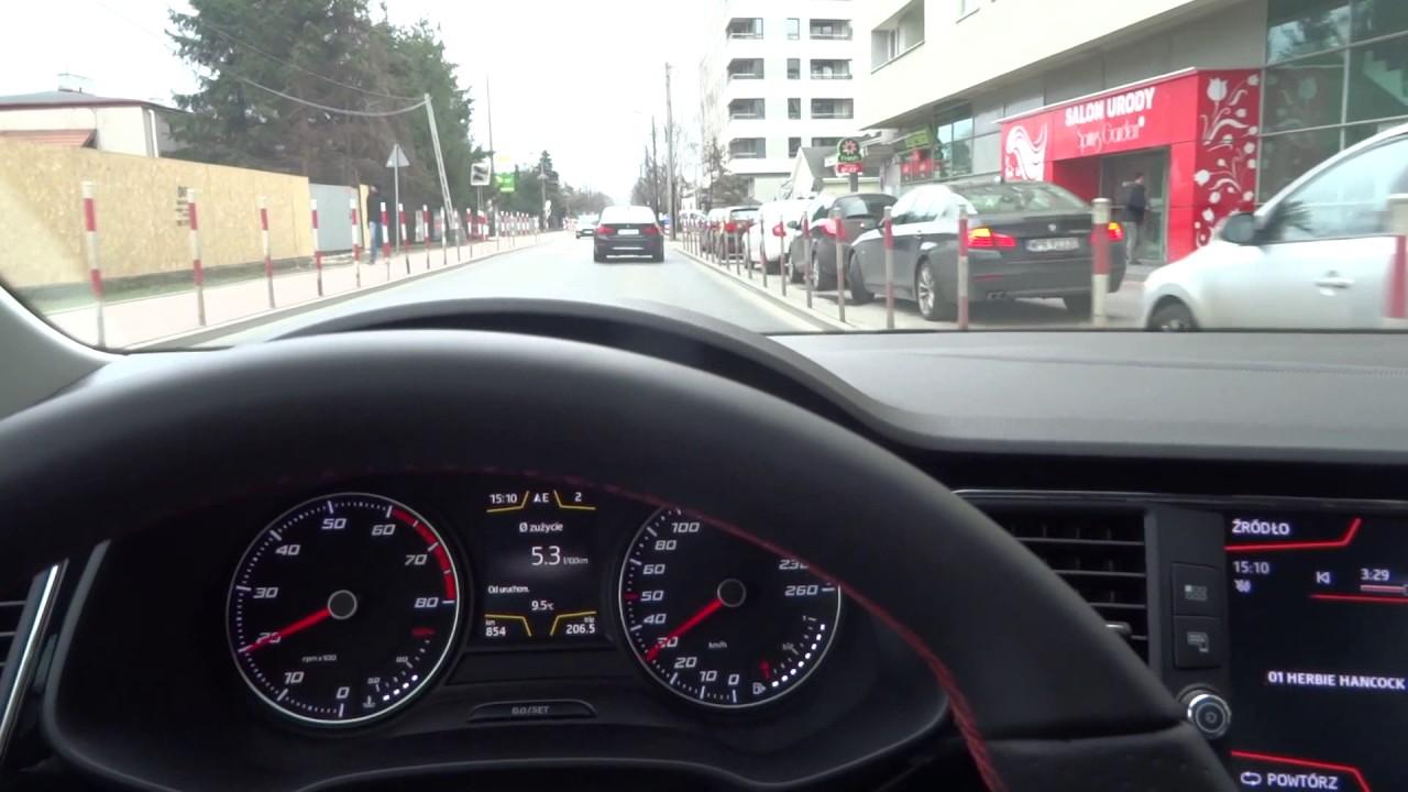 2017 SEAT Leon FR 1.4 TSI Fuel Consumption Test Spalania Wyciszenia LEDy PL