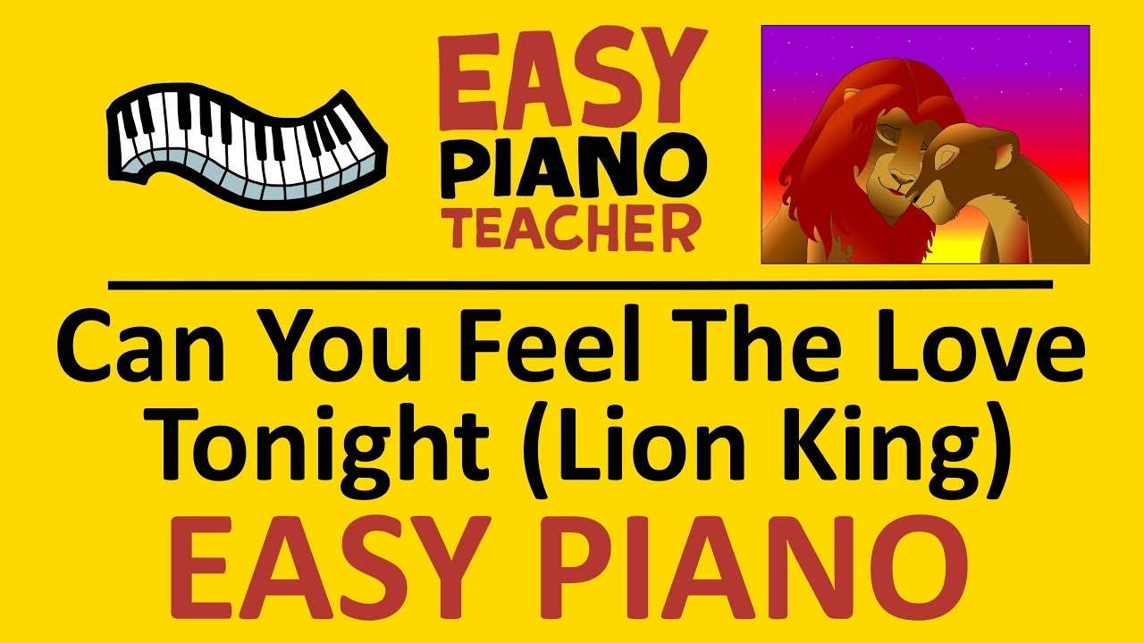 how to play can you feel the love tonight  lion king