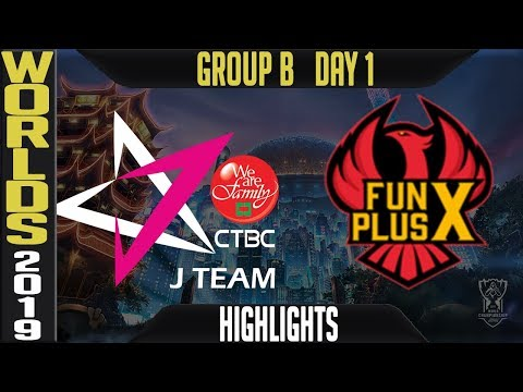 JT vs FPX ighlights Game 1 | Worlds 2019 Group B Day 1 | CTBC J Team vs Funplus Phoenix