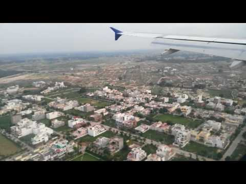 Landing at Lucknow Airport in the beautiful weather.