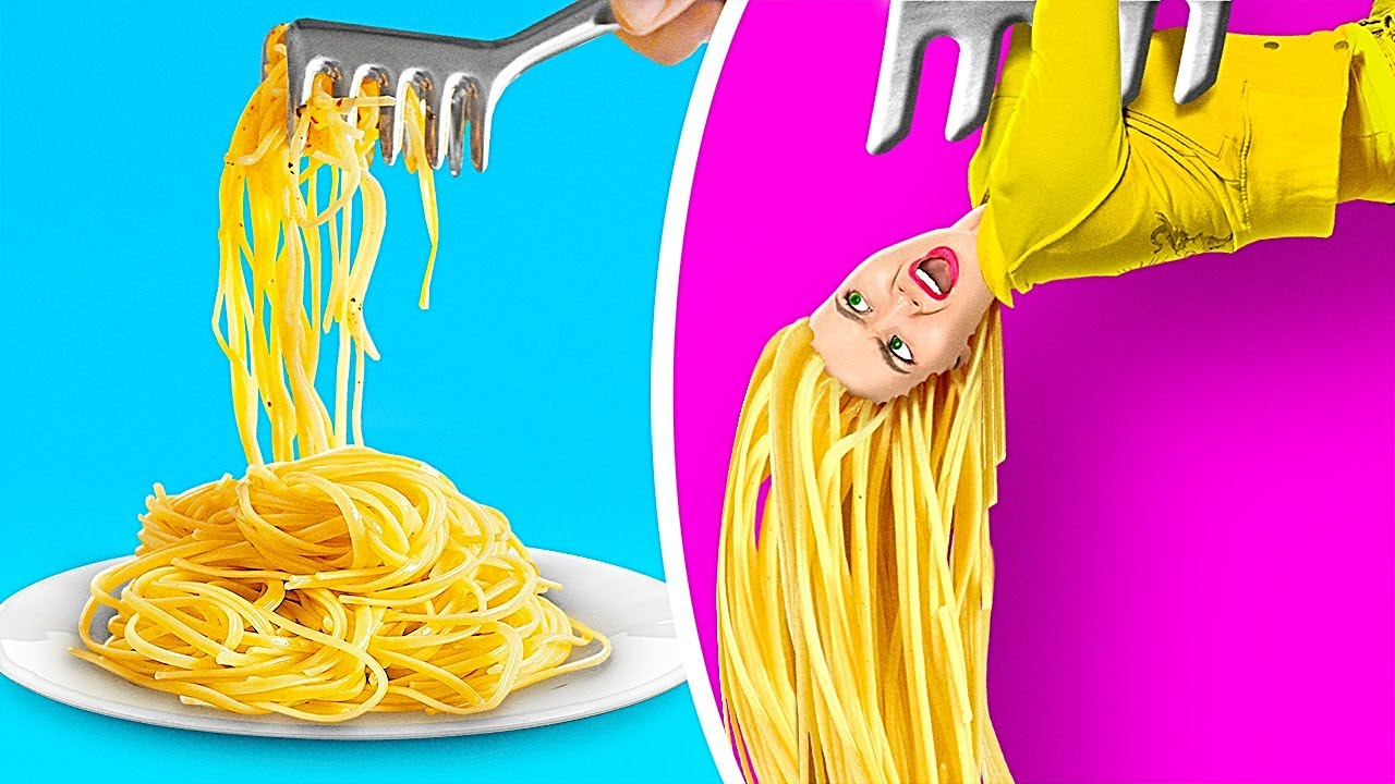 IF FOOD WERE PEOPLE || Crazy DIY Hacks And Tricks For Real Foodies by 123 Go! GENIUS