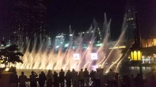Michael Jackson's Thriller in Dubai Mall's the fountain show.
