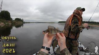 Душим окуня Рыбалка на джиг 2021 Река Вычегда Республика Коми