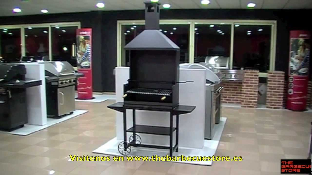 Barbacoa metalica con chimenea y manivela imex el zorro - Chimenea para barbacoa ...