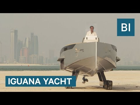 This amphibious yacht can crawl onto land