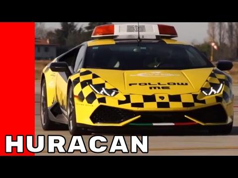 Airport Lamborghini Huracan Follow Me car - 동영상