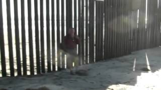 Illegals trying to cross the border in San Diego