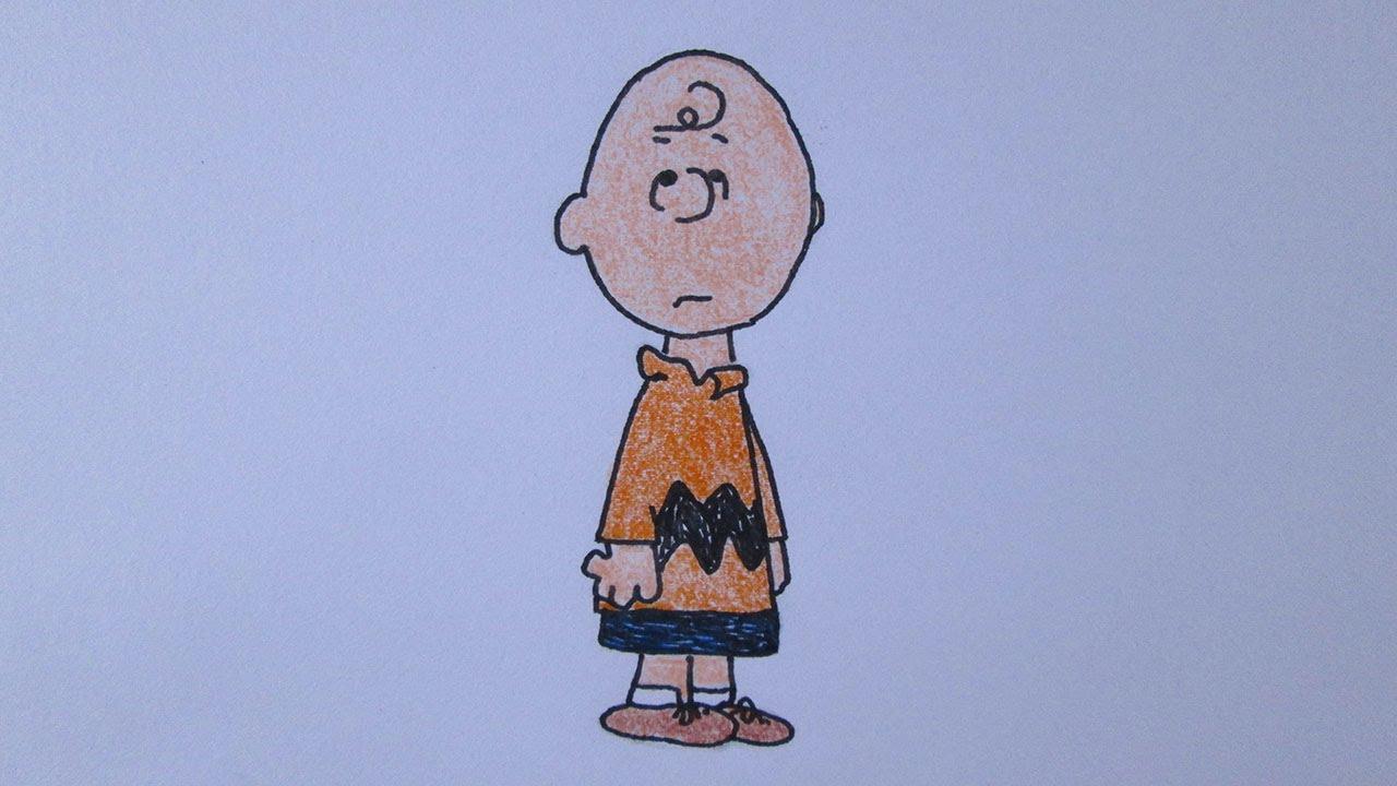 Como Desenhar O Charlie Brown De Snoopy Youtube