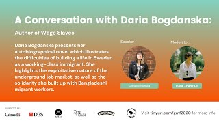 A Conversation with Daria Bogdanska: Author of Wage Slaves