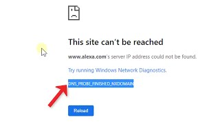 DNS_PROBE_FINISHED_NXDOMAIN in chrome [Solved]