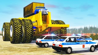 Beamng drive - Giants Machines Crushes Cars #12