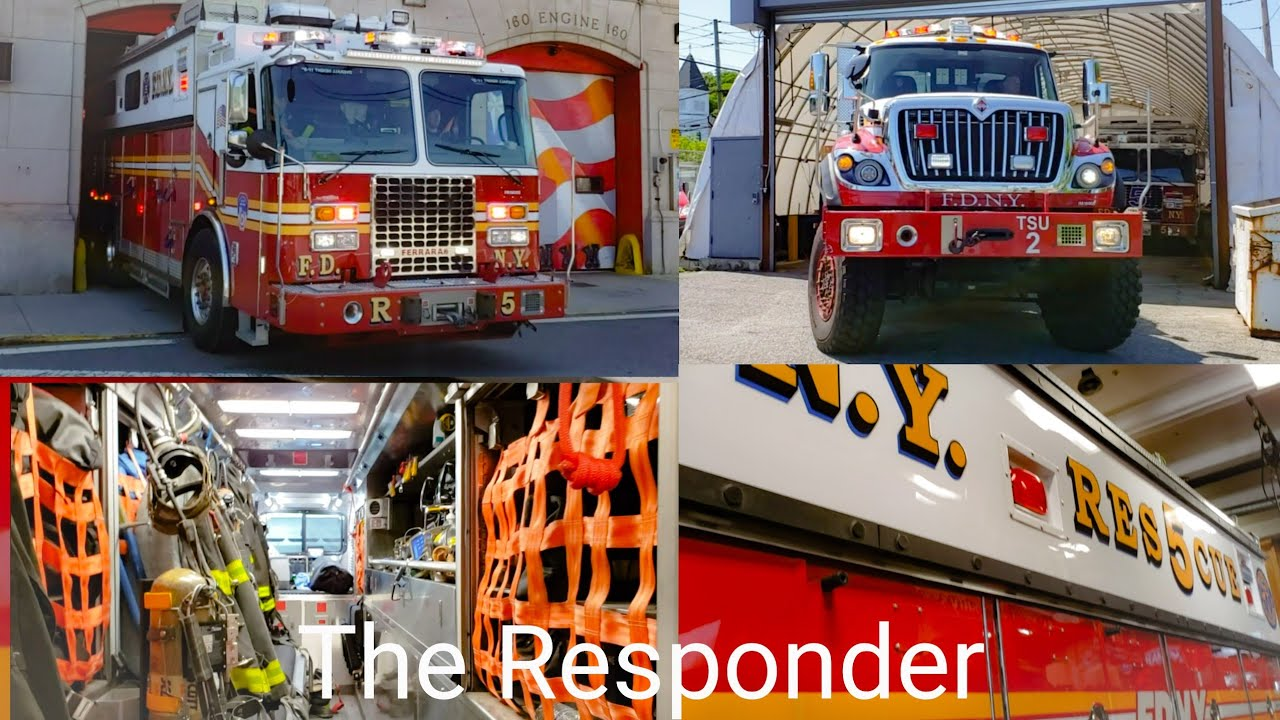 [FDNY] TONES DROP - BRAND NEW RESCUE 5 + TAC 2 RESPOND & INSIDE LOOK AT NEW RIG