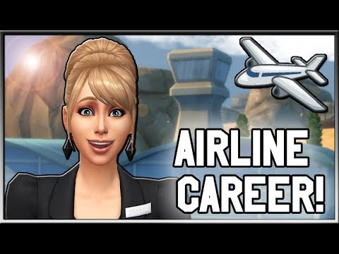 Airline Career Mod (6 Branches!) ✈️ | The Sims 4 (Created by Simmiller)