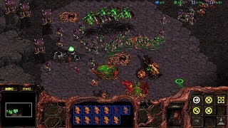 StarCraft: Remastered Co-op Campaign BW Zerg Mission 8 - To Slay the Beast