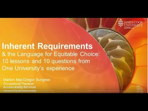 Inherent Requirements Symposium. The Language for Equitable Choice