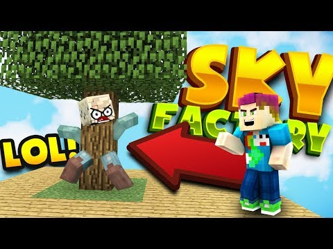 GIRLFRIEND GETS STUCK IN A TREE! - Sky Factory Ep: 02