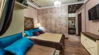 """Дизайн спальни с балконом и встроенной гардеробной(Получившийся дизайн спальни с балконом можно смело назвать """"шоколадным"""". Плотная штора трех цветов - бело..., 2015-02-20T22:42:34.000Z)"""