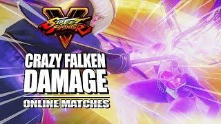 CRAZY FALKEN DAMAGE: FALKE - Week Of! Street Fighter 5 Online