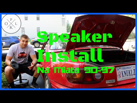 How to Install Car Speakers – Polk DB NA Mazda Miata 90-97
