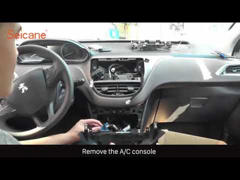 How to remove and upgrade your Peugeot 2008 Radio GPS Navi Bluetooth Car  Stereo Installation Guide