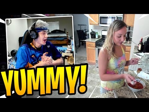 Ninja Watches WIFE Cooking For Him LIVE On Stream! - Fortnite Best And Funny Moments