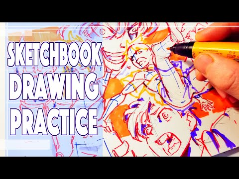 Full Sketchbook Page Drawing Practice - Anime Manga Sketch