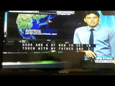 Amazing video of tsunami in Japan courtesy Hawaii KHNL TV