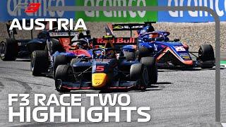 F3 Race 2 Highlights | 2020 Austrian Grand Prix