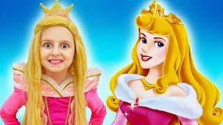 Elsa Transforms into Princess Aurora   Dress Up Transformation   Super Elsa