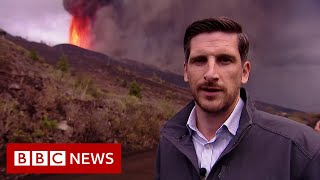 Witnessing the erupting Canary Islands volcano - BBC News