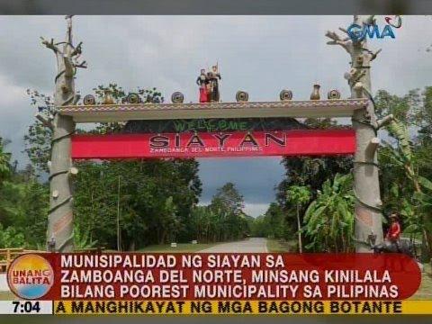 Munisipalidad ng Siayan sa Zamboanga del Norte, minsang kinilala bilang poorest municipality sa PHL