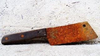 Old Rusty Cleaver Knife Restoration