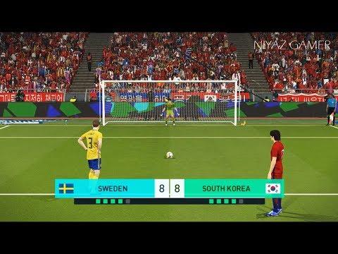 SWEDEN vs SOUTH KOREA   Penalty Shootout   PES 2018 Gameplay PC