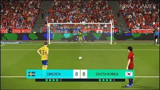SWEDEN vs SOUTH KOREA | Penalty Shootout | PES 2018 Gameplay PC