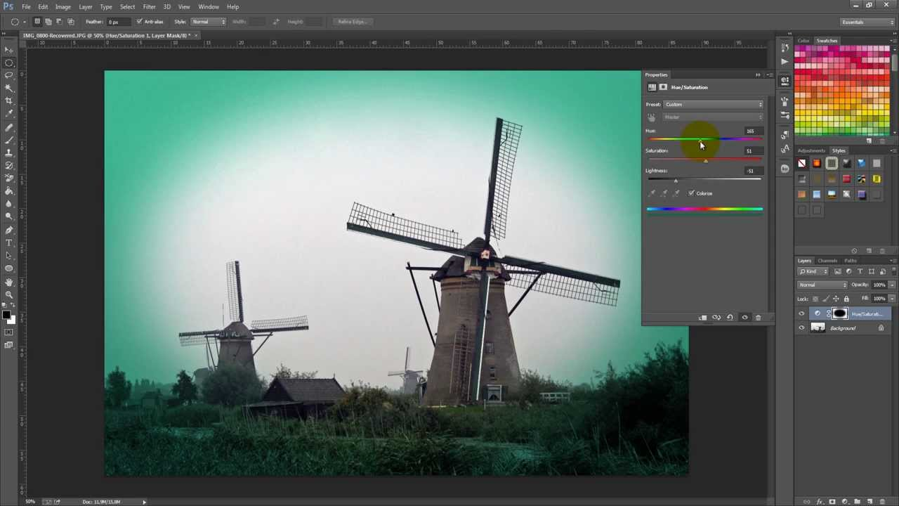 how to create a vignette or spotlight effect in adobe