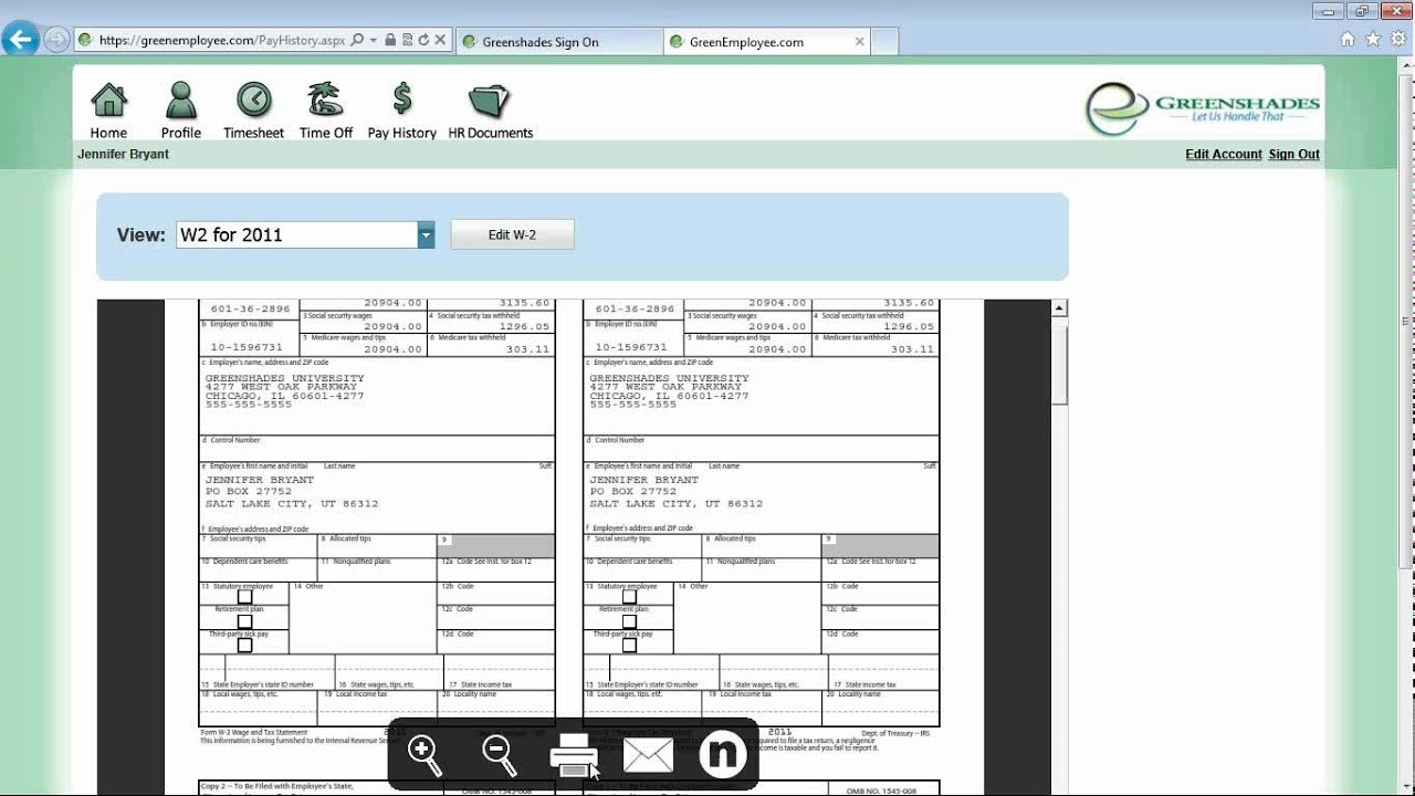 Greenshades Online Paperless Payroll Demonstration YouTube - Paperless pay stub