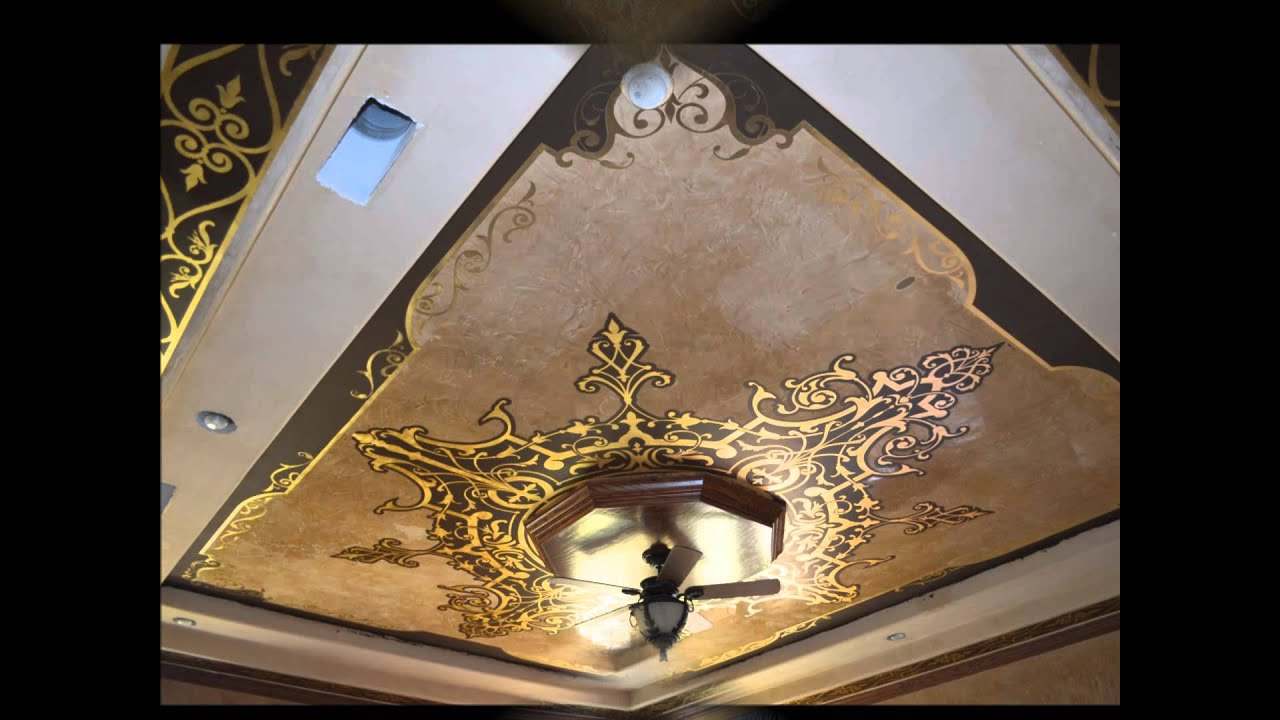 Private Residence Italian Plaster With Gold Leaf Motif Is From Ivenetian Com You