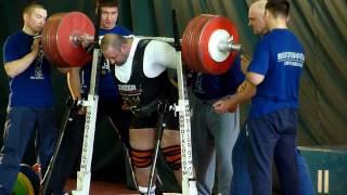 Калиниченко   присед 435 кг не встал, ругался