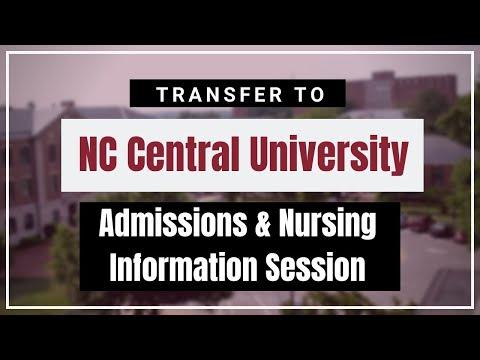 NC Central University: Admissions & Nursing Information Session (2/12/20)