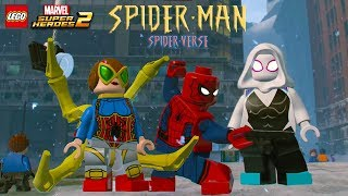 LEGO Marvel Super Heroes 2 All Spider-Man Spiderverse Characters and Villains Unlocked Showcase