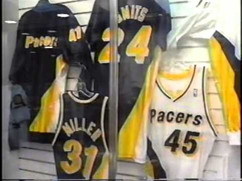 1990 Indiana Pacers gift shop commercial with Florence Griffith ...