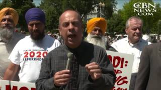 Christians, Sikhs Protest India's Prime Minister at the White House