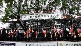 メインステージ(小田原城二の丸広場)にて.