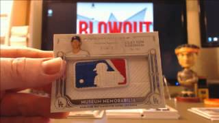 Clayton Kershaw 1/1 mlb logoman Museum Collection 2014 hot pack